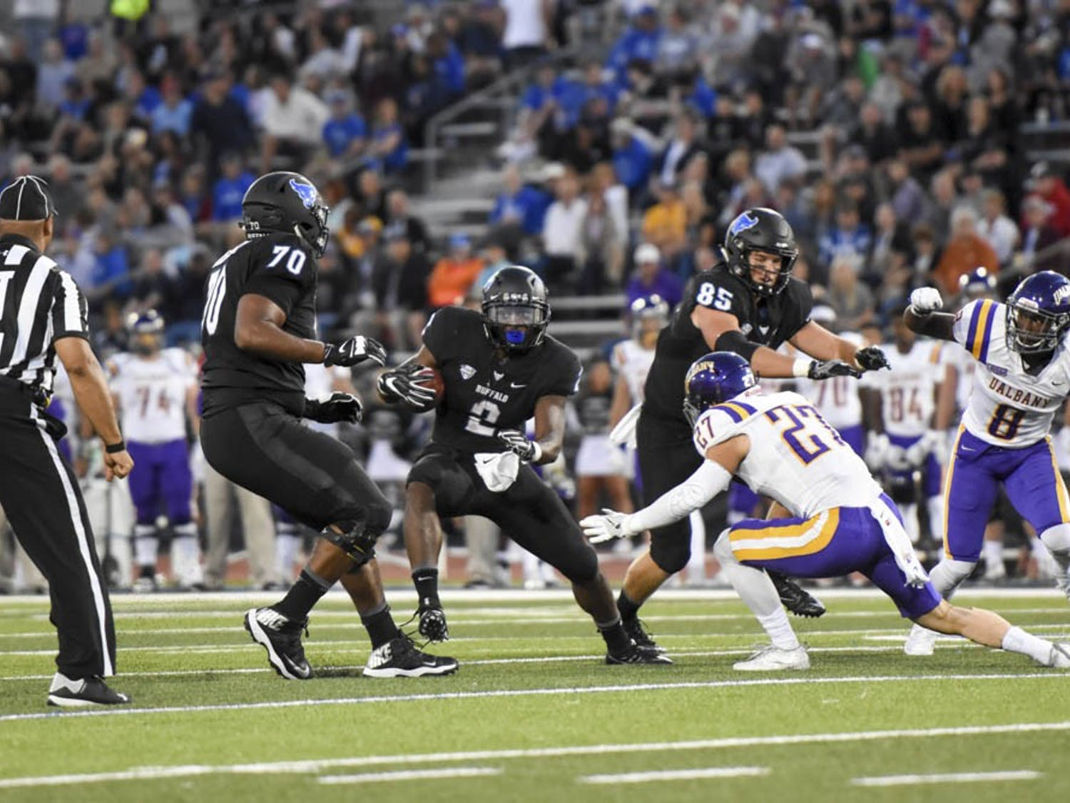 UB Bulls drop opening game to Albany 22-16 Friday night. This was Buffalo's first home opener loss since 2009.