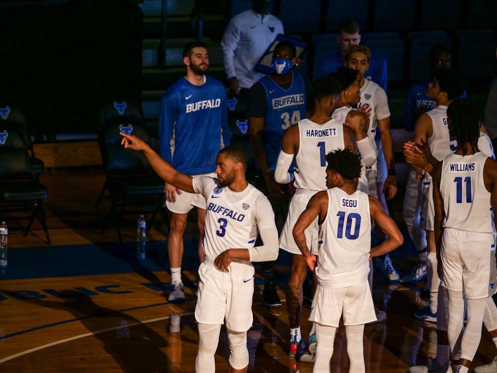 <p>Freshman guard Chanse Robinson (not pictured) has left the men's basketball program, UB Athletics confirmed Sunday.</p>