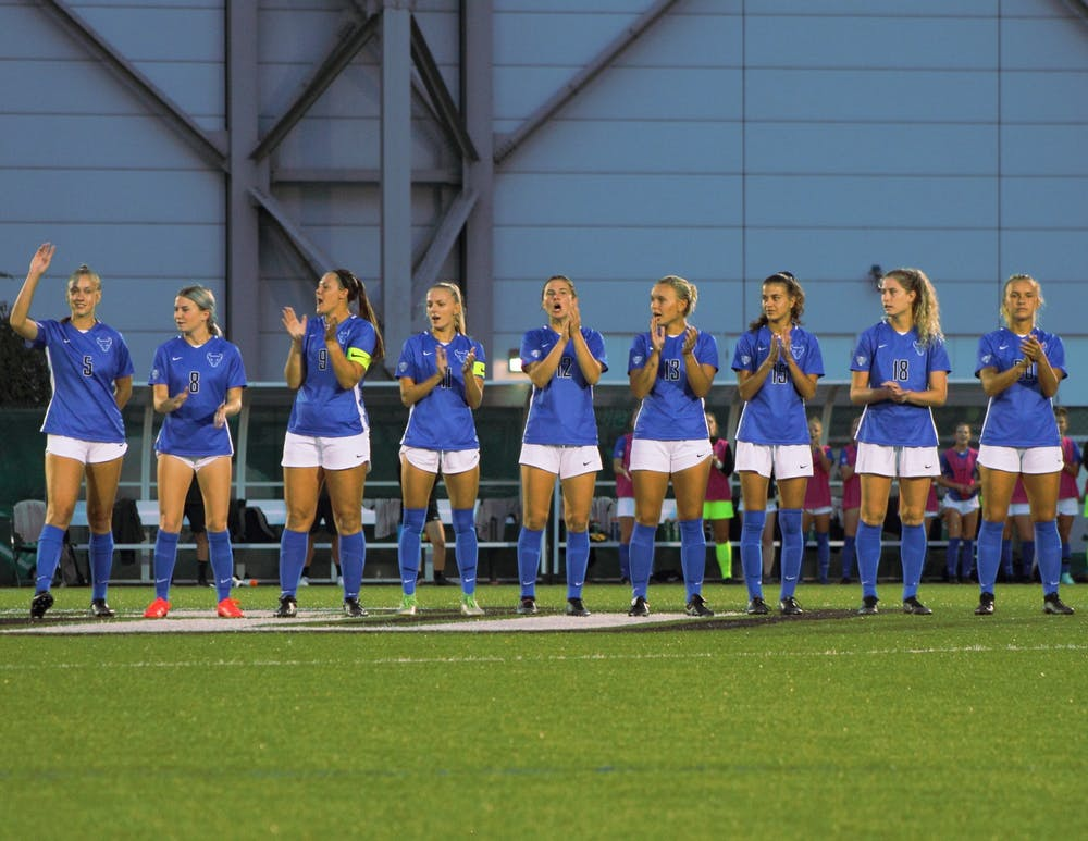 The UB women's soccer team (3-1-0) traveled to the Bearcats Sports Complex Sunday night where they beat the Binghamton Bearcats 1-0.