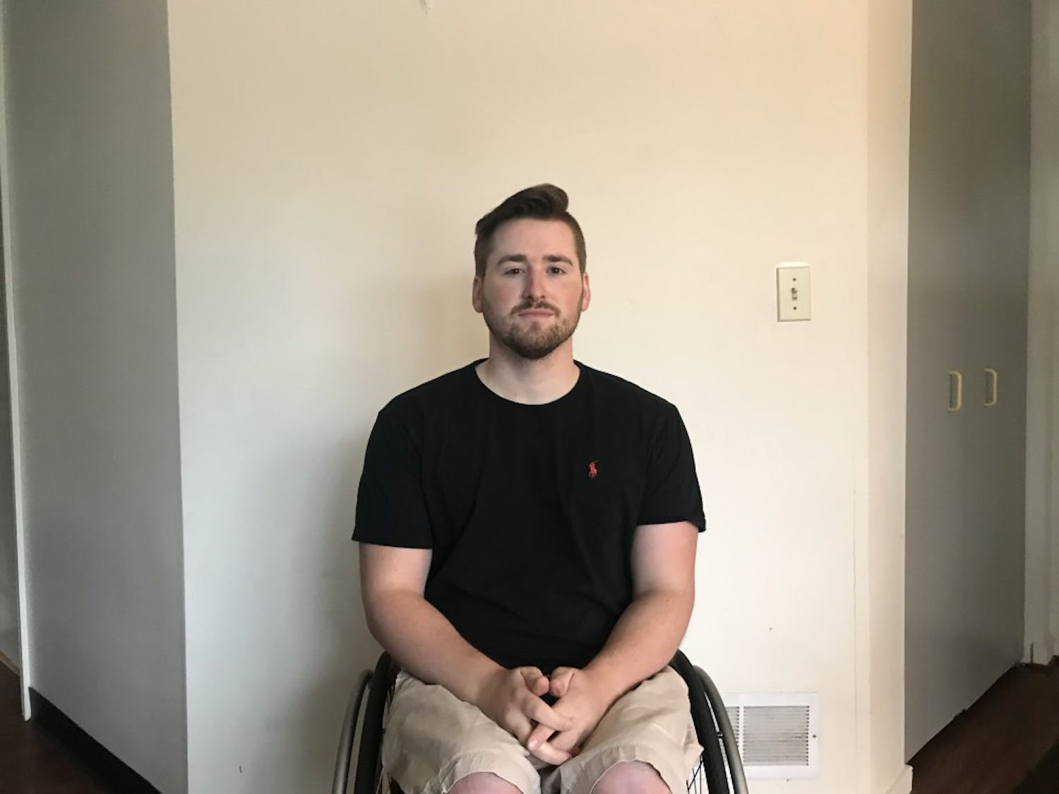 Graduate Student Connor Gow didn't have an accessible table in Capen Hall where he had class last semester.