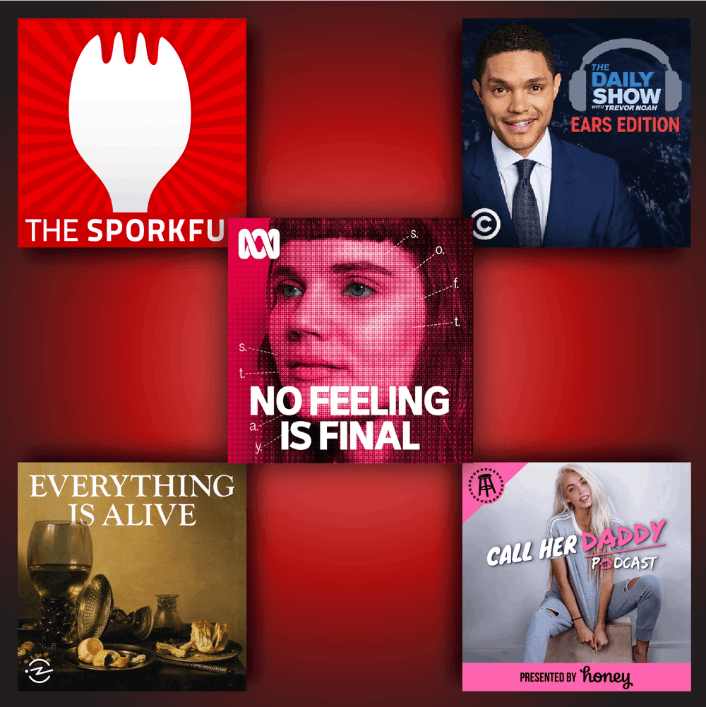 From Barstool's Call Her Daddy to the Daily Show's Ears Edition, a look at some of the top podcasts on the internet.