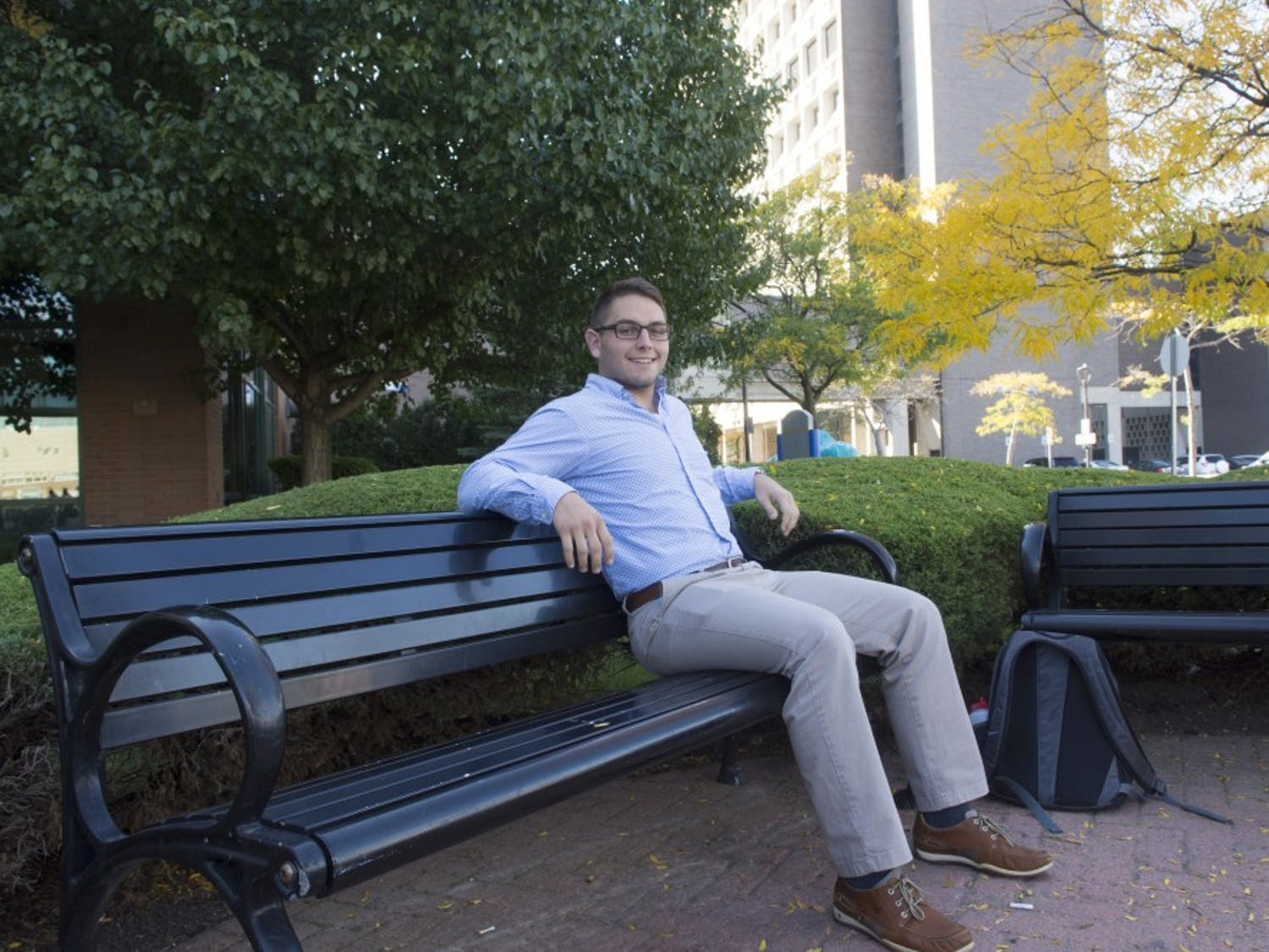 Zachary Shapiro, a senior business administration major, chooses to attend his classes on Jewish holidays. Shapiro said he still wishes he could be with his family during the holidays.