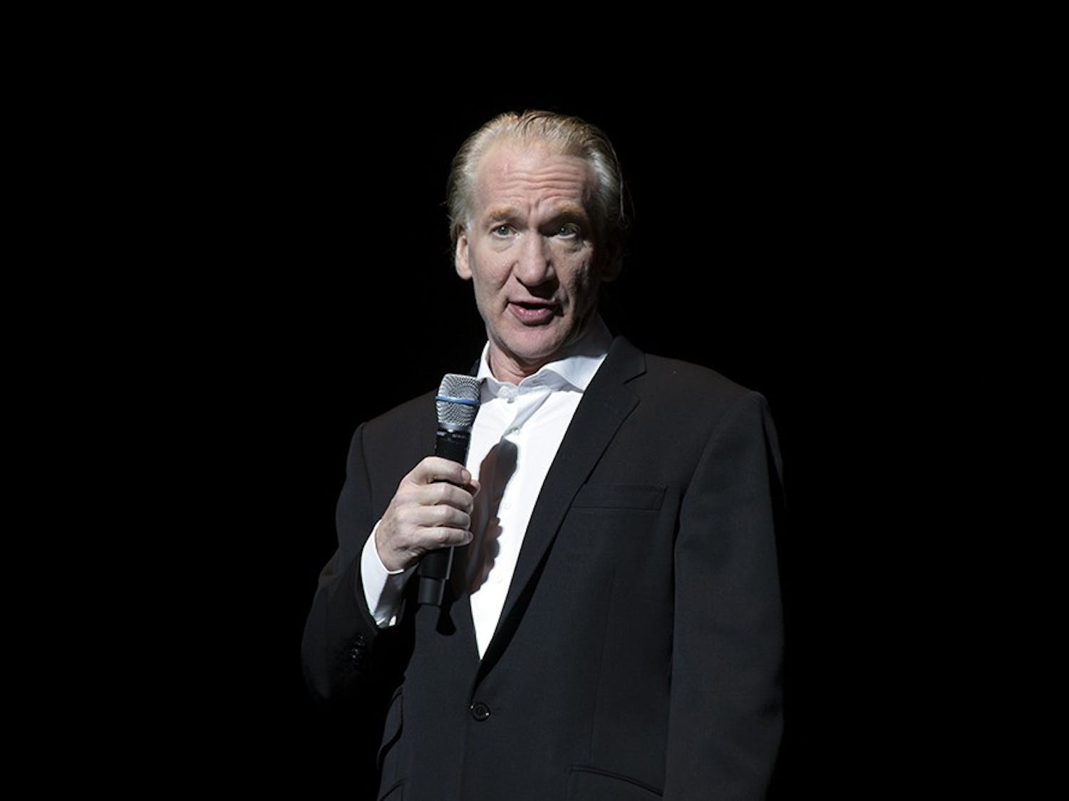 Bill Maher performs at Shea's. The comedian touched on many controversial topics including President Trump and Islamophobia.