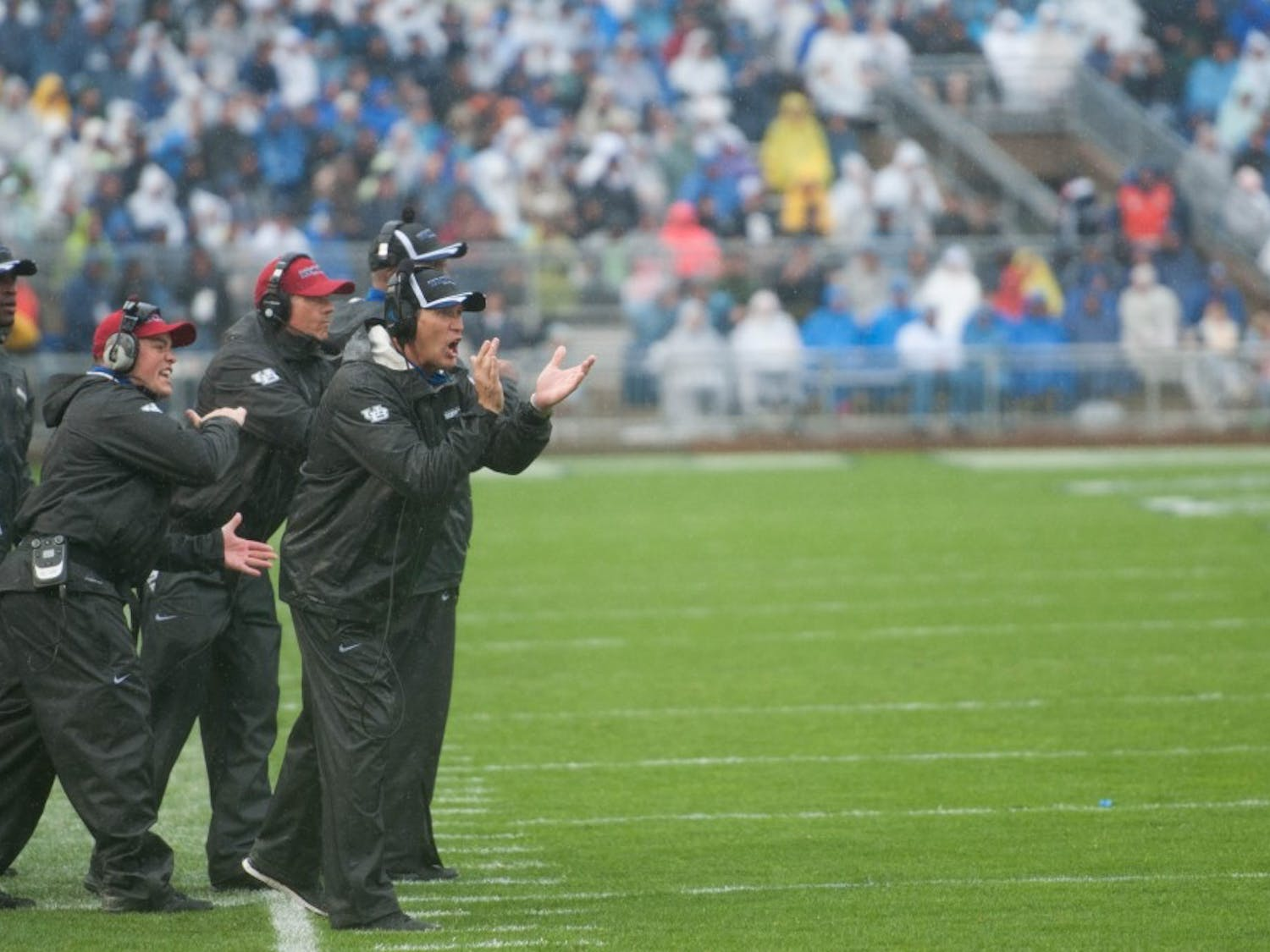The football team (1-1) fell 27-14 to Penn State (1-1) at Beaver Stadium Saturday.