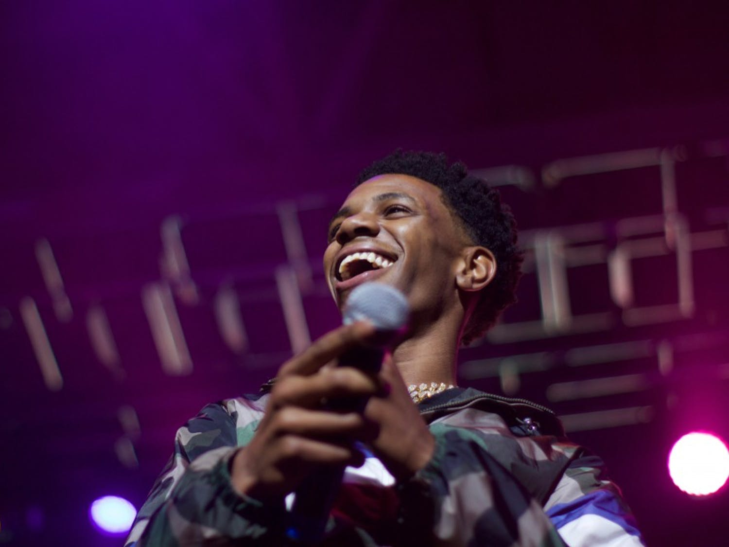 Rapper A Boogie Wit Da Hoodie saw the most energy out of Saturday's Spring Fest crowd.