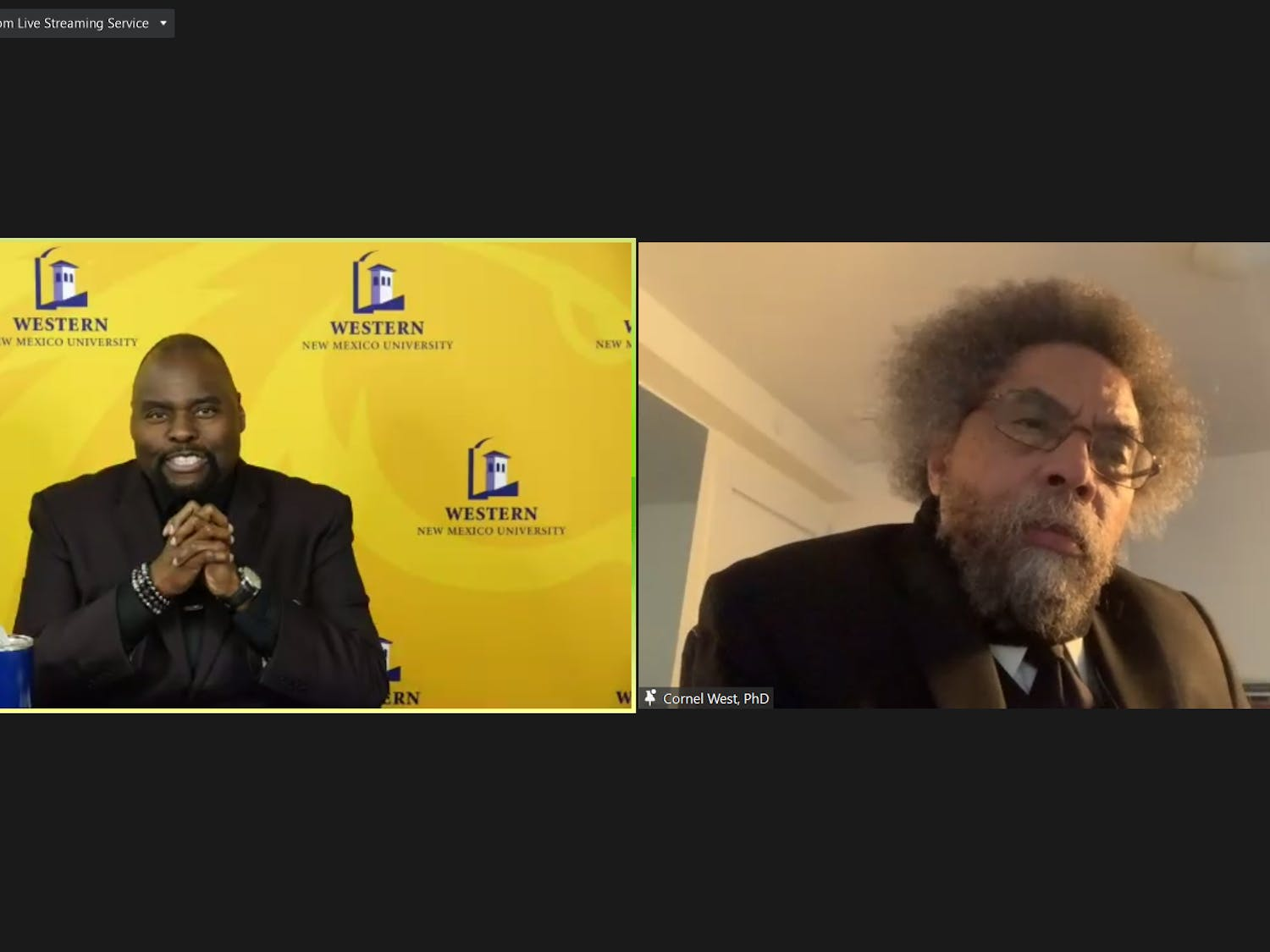 Cornel West spoke at UB Department of Surgery's first annual lecture series on Thursday.
