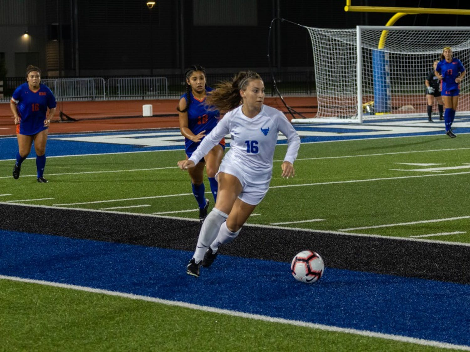 Senior Carley Zoccali was one of three Bulls to earn a goal during Friday's home victory.