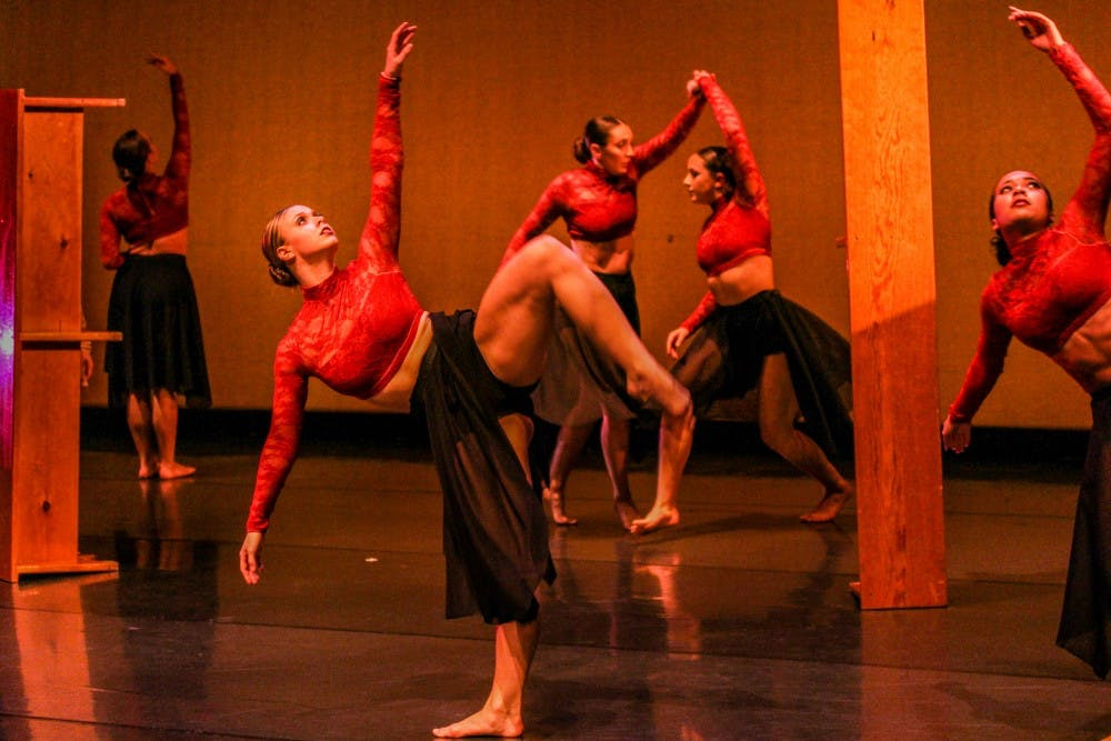 "<p>Zodiaque dancers performing to the piece ""Kyrie Eleison.""</p>"