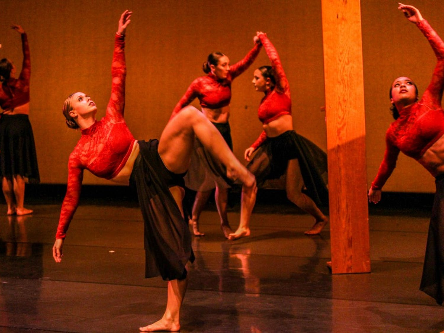 """Zodiaque dancers performing to the piece """"Kyrie Eleison."""""""