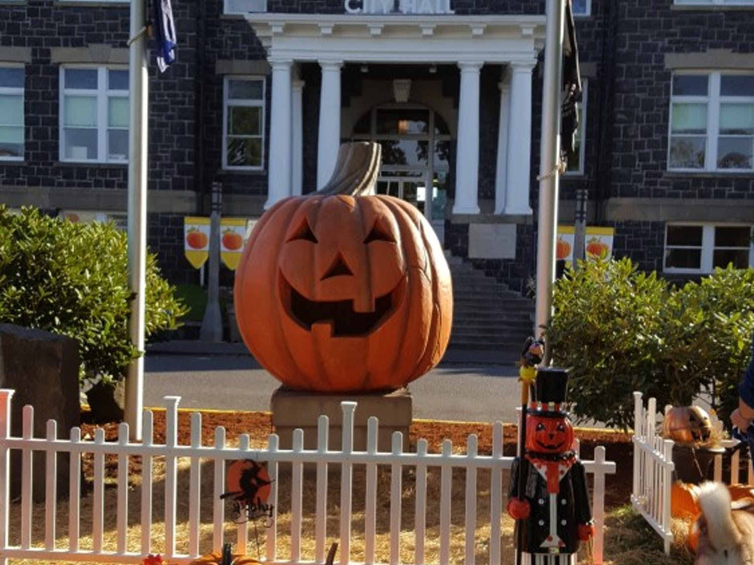 The town square of the 1998 film, Halloweentown.