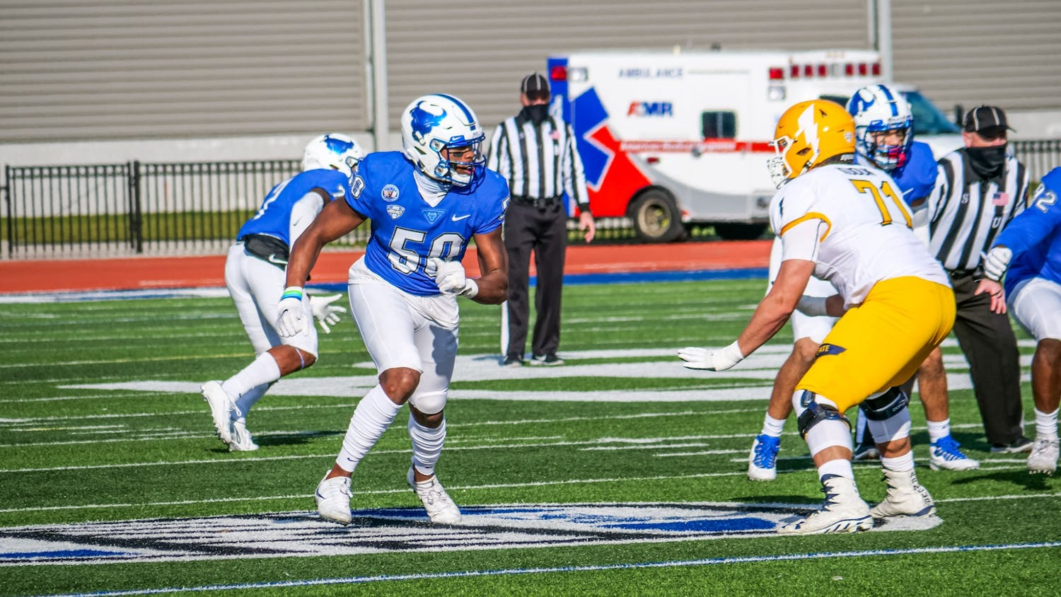 UB defensive end Malcom Koonce was selected No. 79 overall in the 2021 NFL Draft by the Las Vegas Raiders.