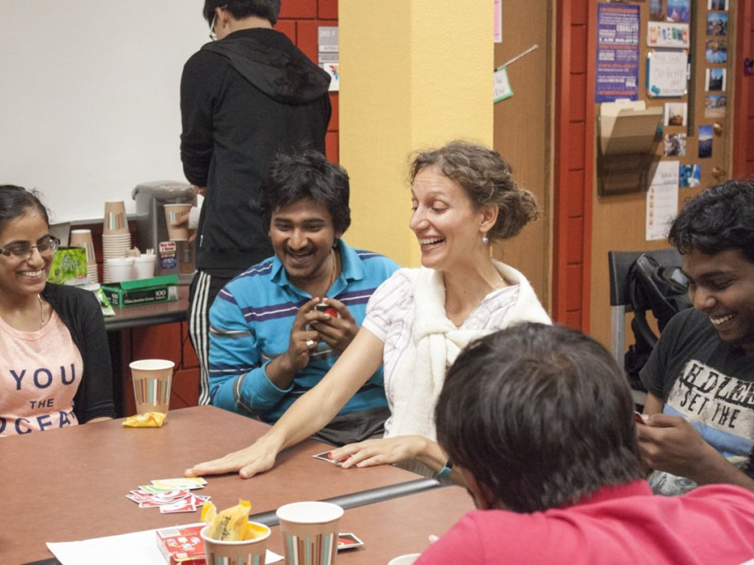 International Tea Time is a weekly meeting in 240 Student Union which establishes abetter relationship between domestic students and international students.