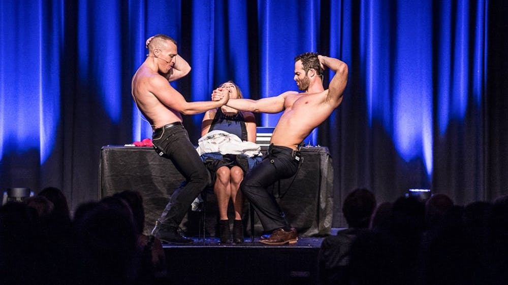 <p>Two Australian magicians, Mike Tyler and Christopher Wayne, star in the world-renowned magic show, 'The Naked Magicians.'</p>