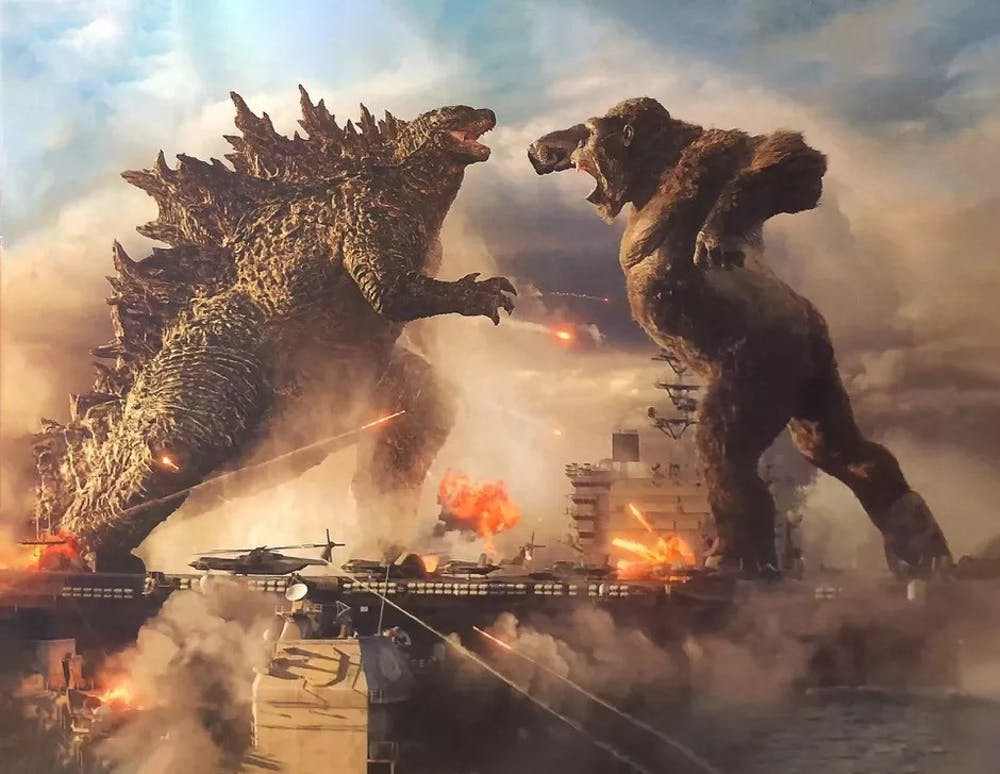 "After years of anticipation, this flick finally pits the titular titans against each other for the first time since the 1962 Japanese film, ""King Kong vs. Godzilla."""