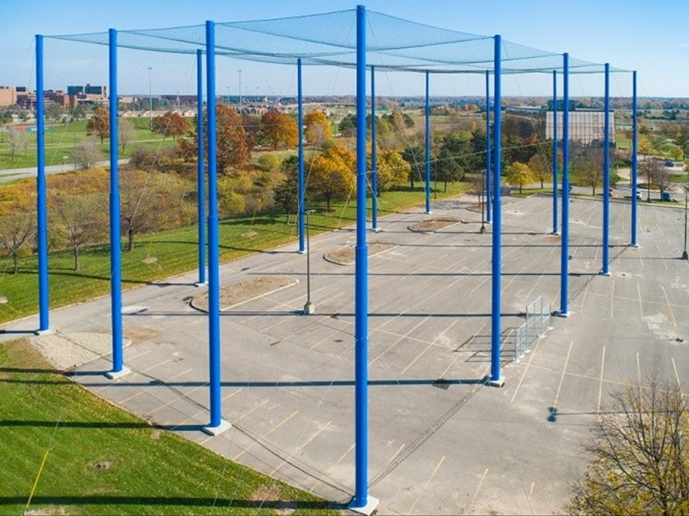 <p>The 24,000-square-foot netted enclosure will be used to research uncrewed aerial vehicles</p>