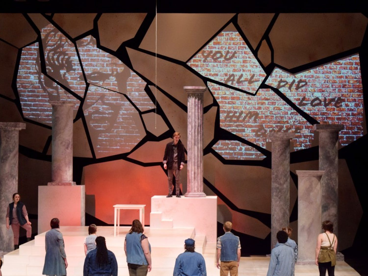 """UB's production of """"Julius Caesar"""" took an updated and modern look at Shakespeare's classic tragedy. The production was the UB Theatre and Dance department's first performance on the CFA's Mainstage."""