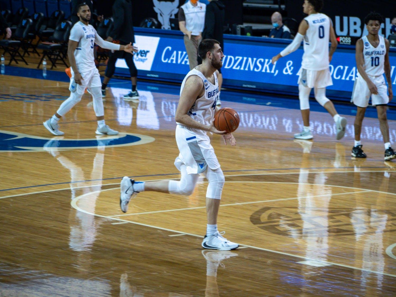 UB men's basketball center Brock Bertram averaged 3.1 points, 4.6 rebounds and 1.1 blocks per game last season.