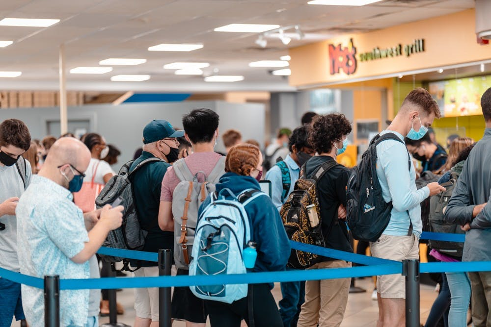 <p>Long lines in the Student Union have left some students frustrated and hungry.&nbsp;</p>