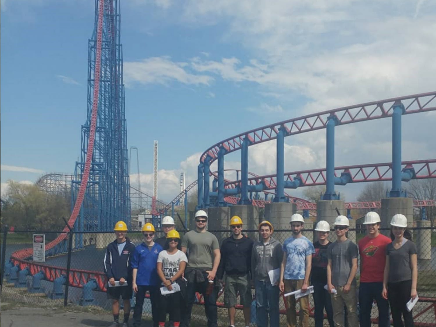 The Theme Park Engineering Club visits Darien Lake to learn about amusement park design. The club provides students with the opportunity to learn about what goes into building the world's roller coasters.