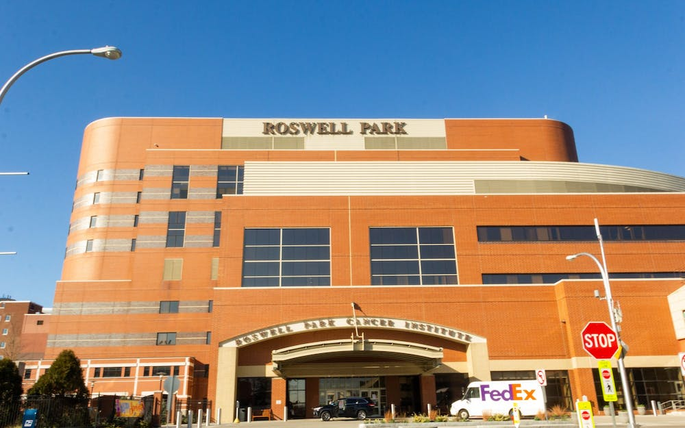 <p>Roswell Park Cancer Institute, where the first patient in Buffalo received sarilumab treatment.</p>