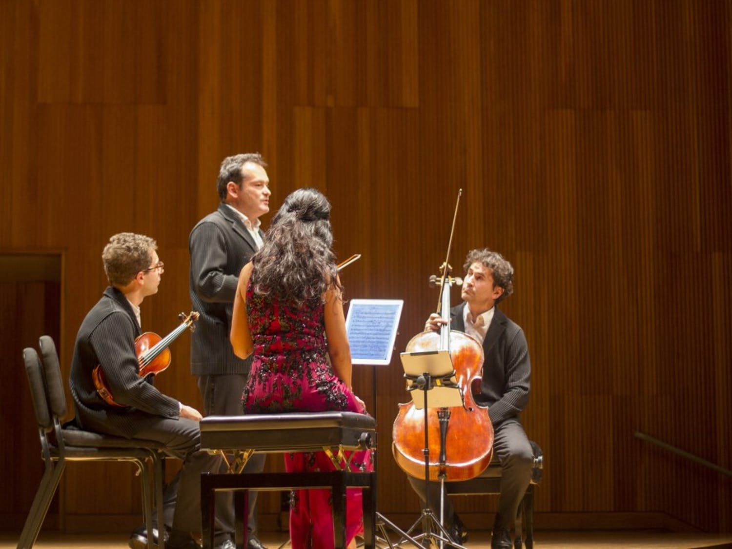 Slee Hall came alive with music during its Visiting Artist Series. The series welcomed the world-renowned Belcea Quartet for a night of music.