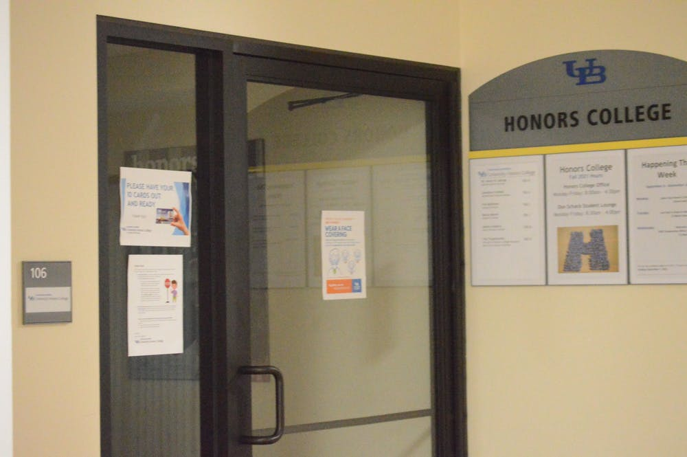 <p>UB's Honors College is whiter and more female than the university's general population, according to university admissions and enrollment data.</p>