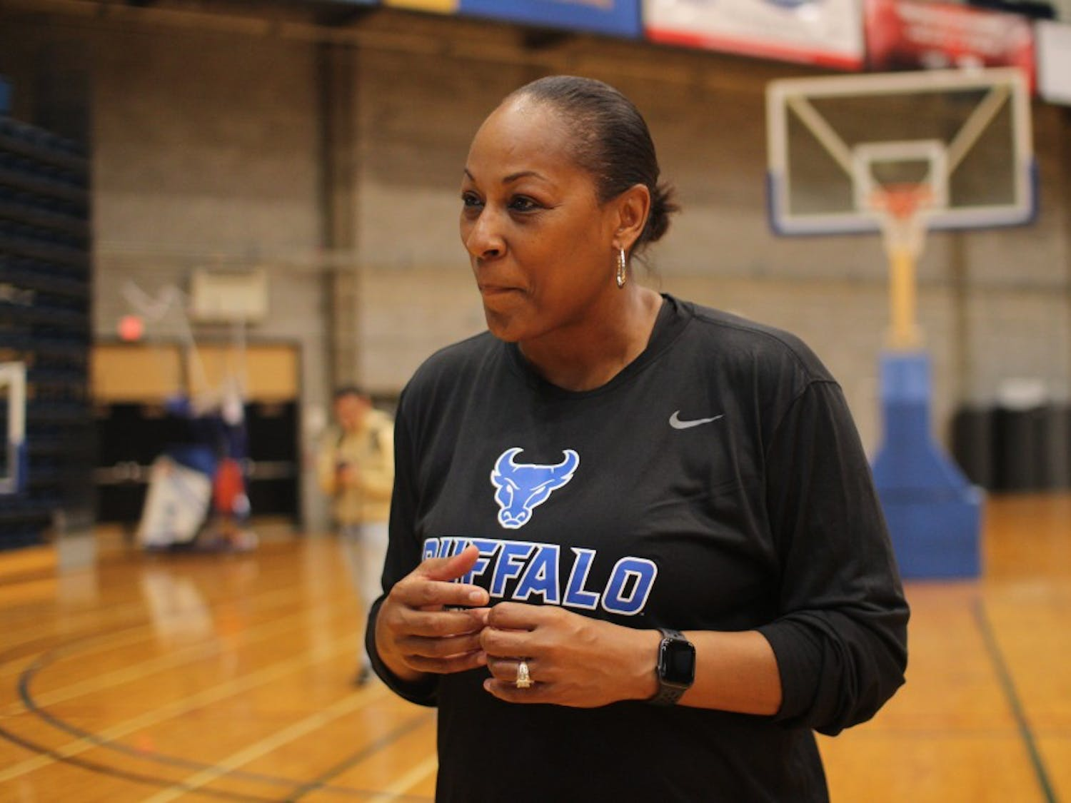 Felisha Legette-Jack, head coach of the women's basketball team at UB, talks about her expectations for the team and its growth this season.