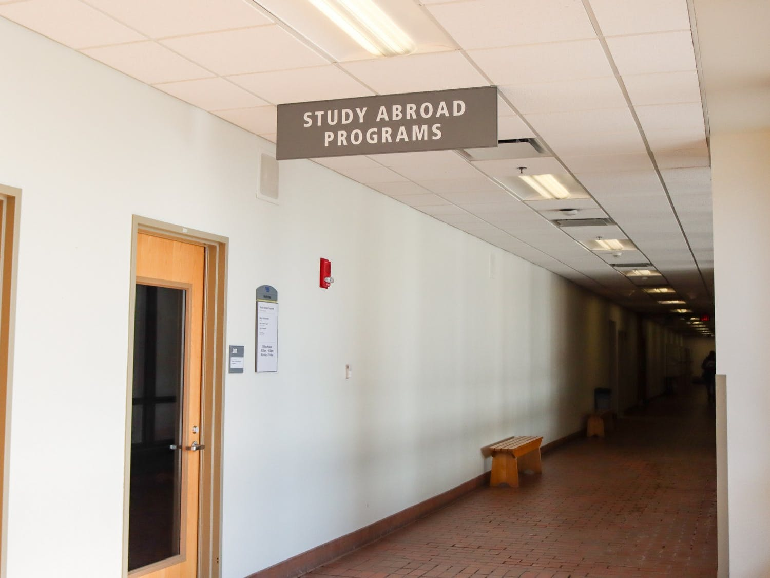 The Study Abroad Office is located on the second floor of Talbert Hall.