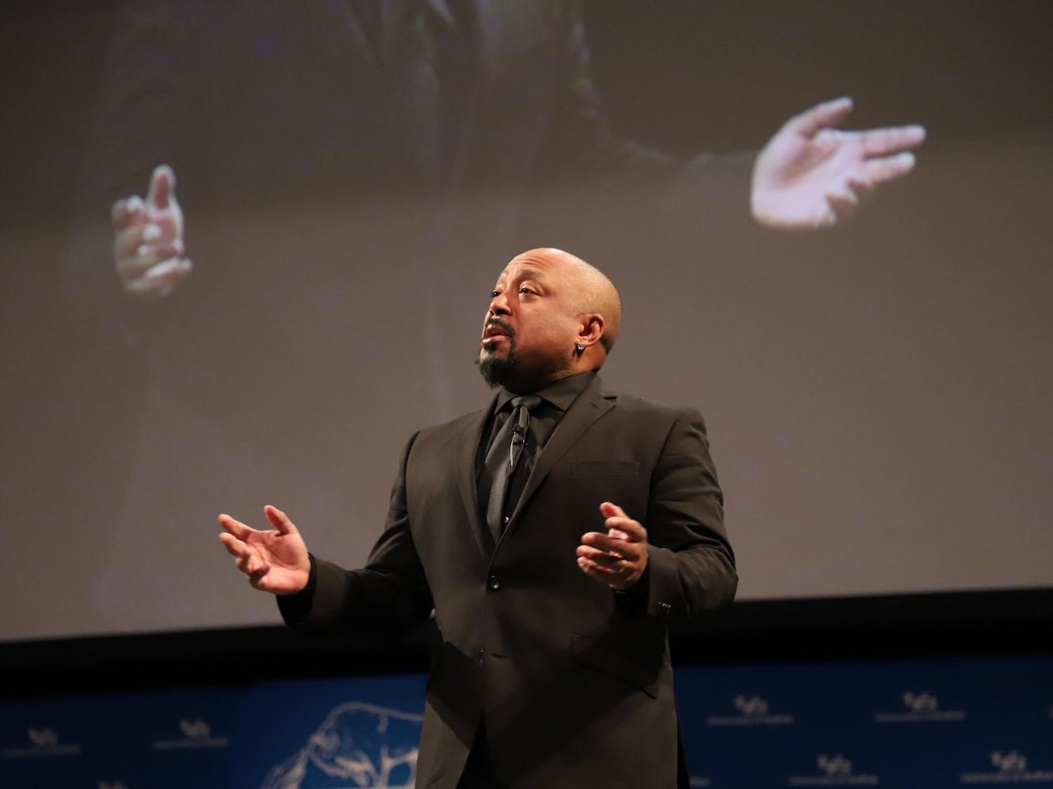 Shark Tank investor and FUBU founder Daymond John talks business at the Center for the Arts.