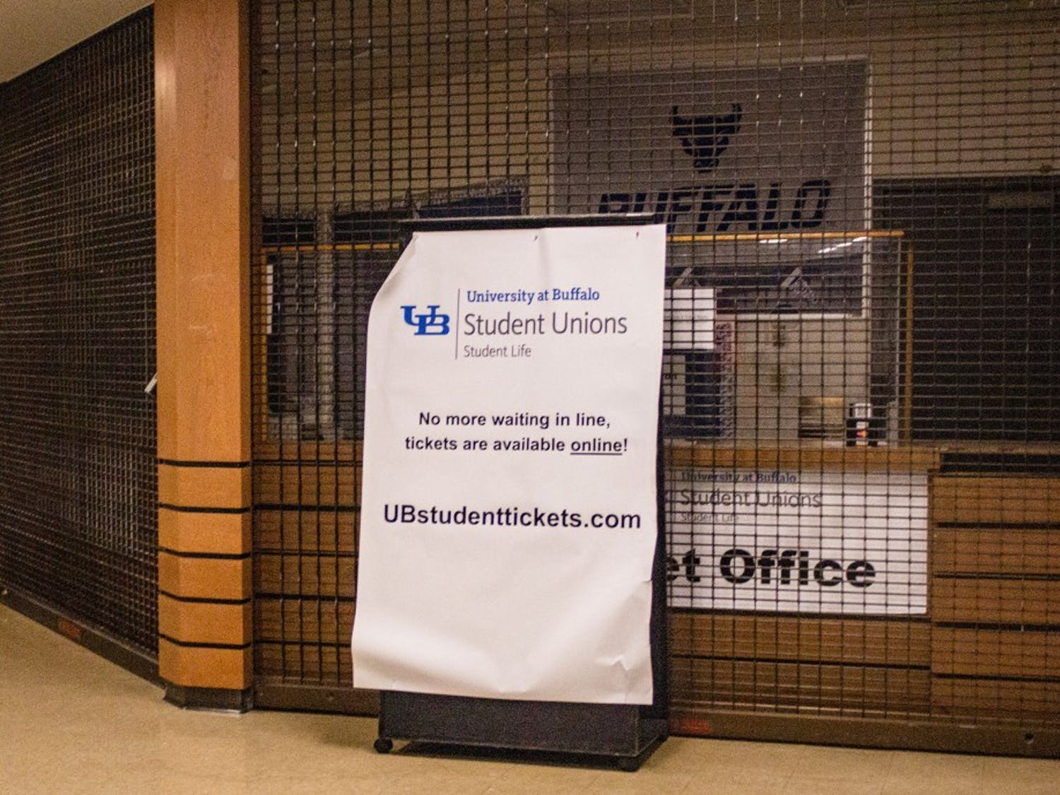 UB Ticket Office at the Student Union.