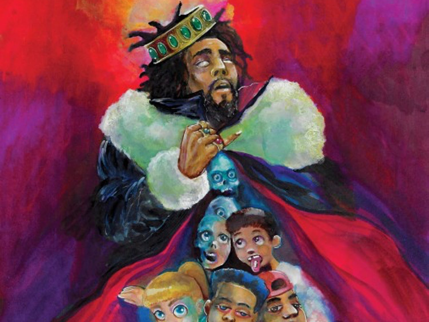 """On his fifth album, J. Cole is taking a leap towards a prolific stature as he critiques his peers, surroundings and the culture of drug use around him on """"KOD."""""""