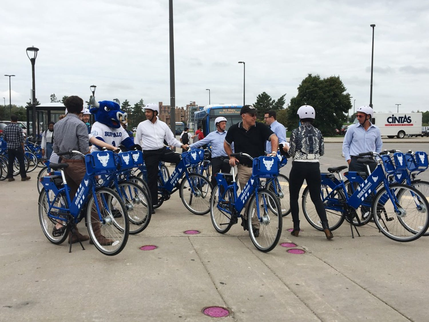 UB's parking and transportation has partnered with Reddy BikeShare to distribute an additional 50 rent-able bicycles on North and South Campus. Students and faculty can access the new GPS-enabled bicycles and their locations through the Reddy BikeShare app.
