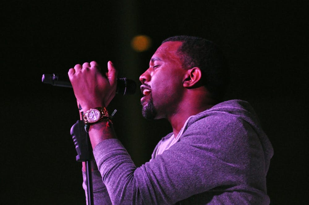 Kanye West performs at The Museum of Modern Art's annual Party in the Garden benefit in May 2011.