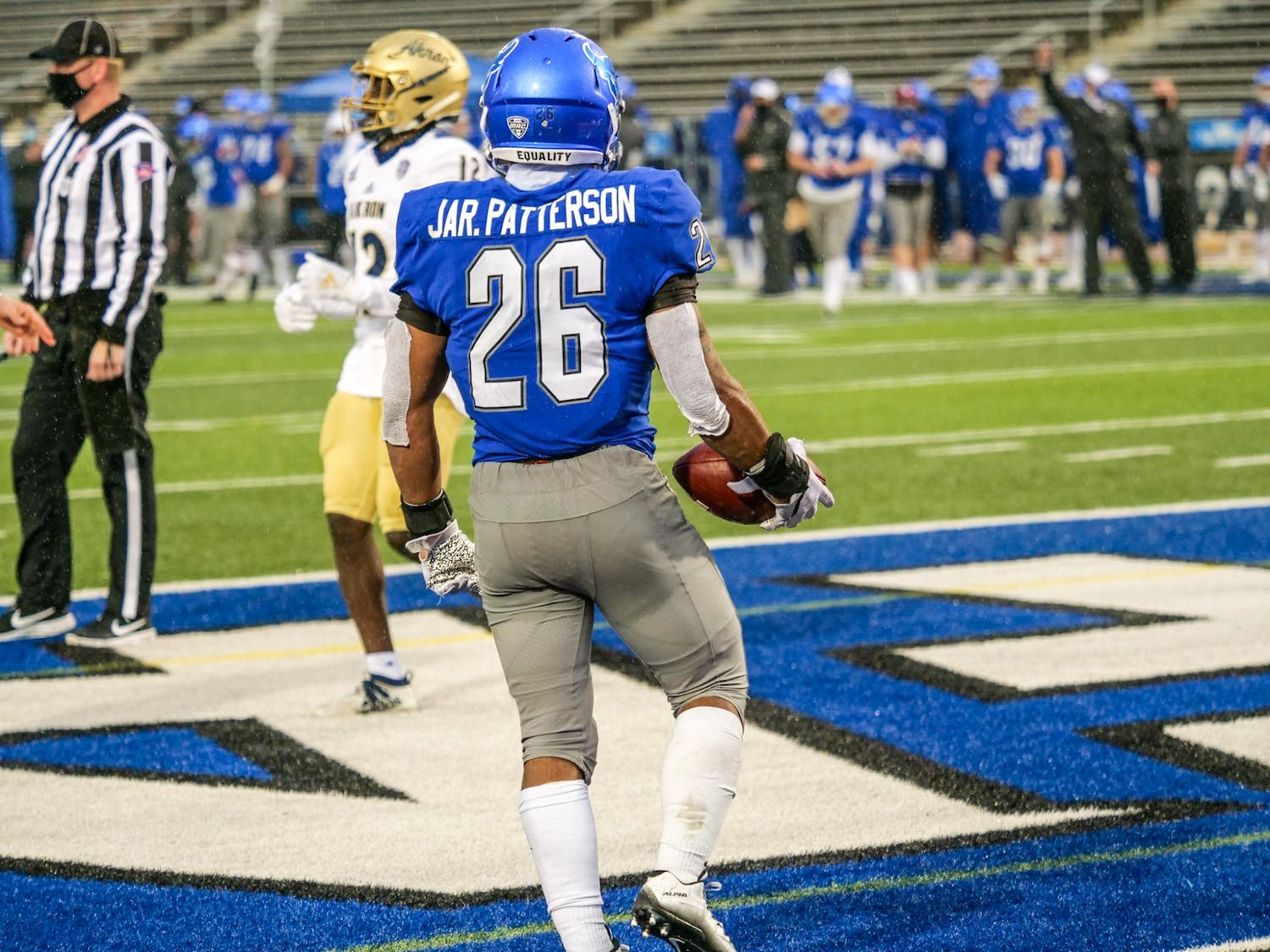 Jaret Patterson had a historic 2020 season with the Bulls, as he led the nation in rushing yards per game, at 178.