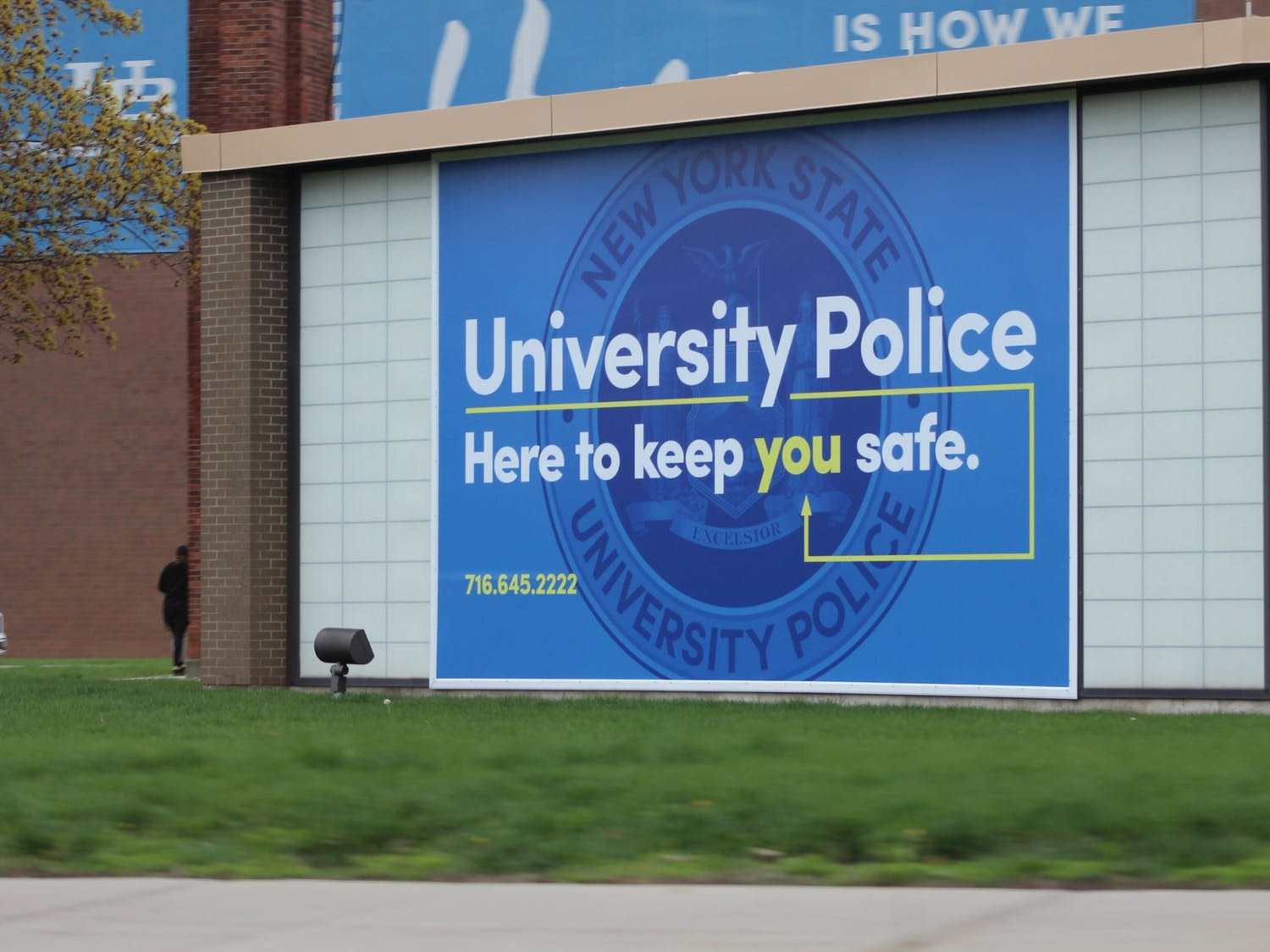 UB Police is housed in Bissell Hall, next to Alumni Arena.