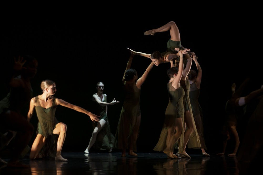 """<p>The Zodiaque Dance Company celebrated its 45th anniversary with """"Celebration 45"""" beginning Thursday night. The program featured a multitude of styles including jazz, hip-hop and variations of modern dance providing for a diverse evening.</p>"""