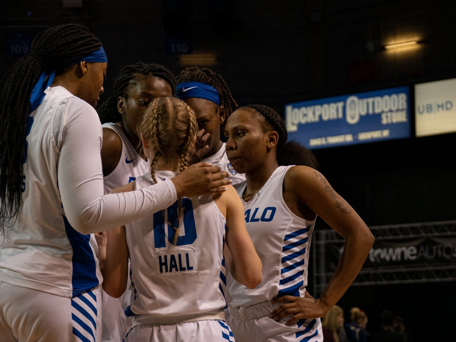 Despite a scrappy effort from UB, the No. 1 seed Falcons' hot shooting was too much to handle.