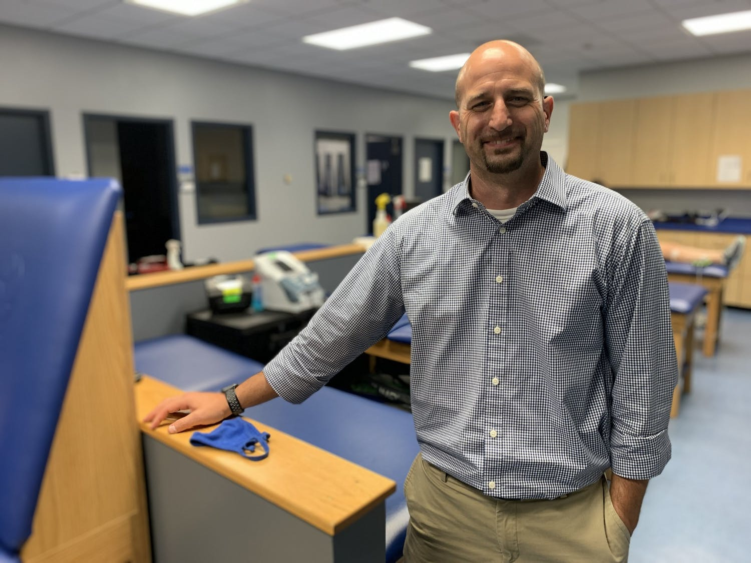 """UB Director of Sports Medicine and Wellness Services Brian Bratta says the Delta variant has thrown a """"wrench"""" in the reopening process."""