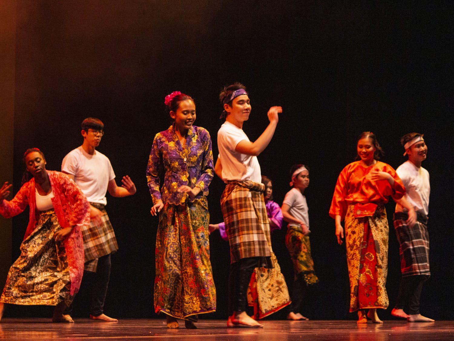 Students with backgrounds from seven southeast Asian countries performed together as Malaysian SA.