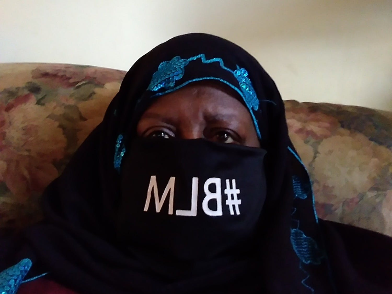 Mumeen left work in protest after she was told to take her BLM mask off