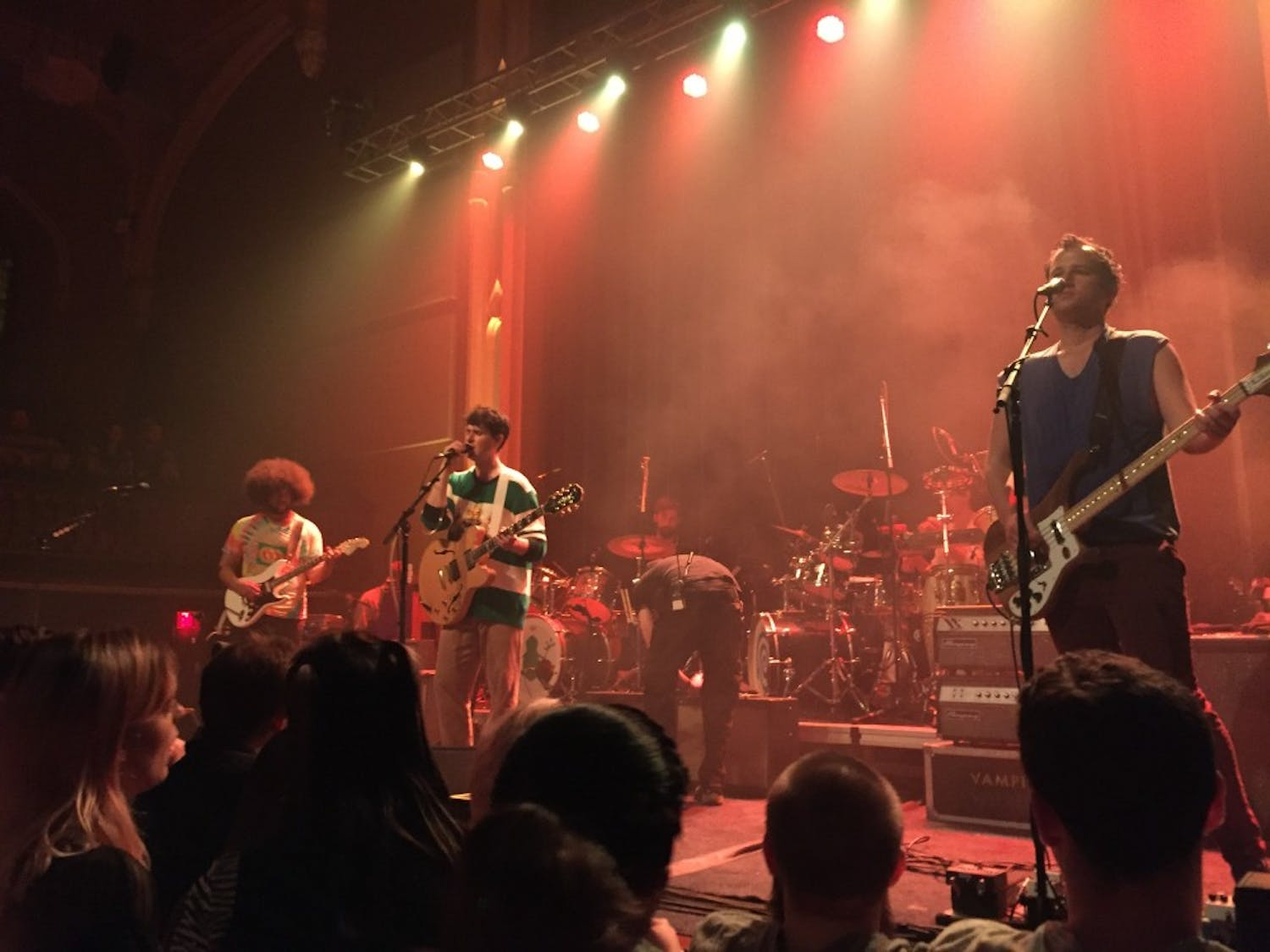 Vampire Weekend performs at Asbury Hall. The band mixed old hits with new cuts to ensure an enjoyable night.