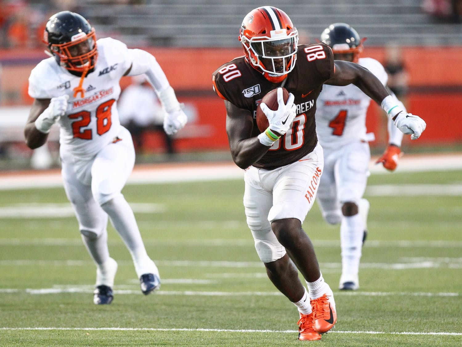 Junior wide receiver Quintin Morris finds an open lane during a 46-3 victory over Morgan State.