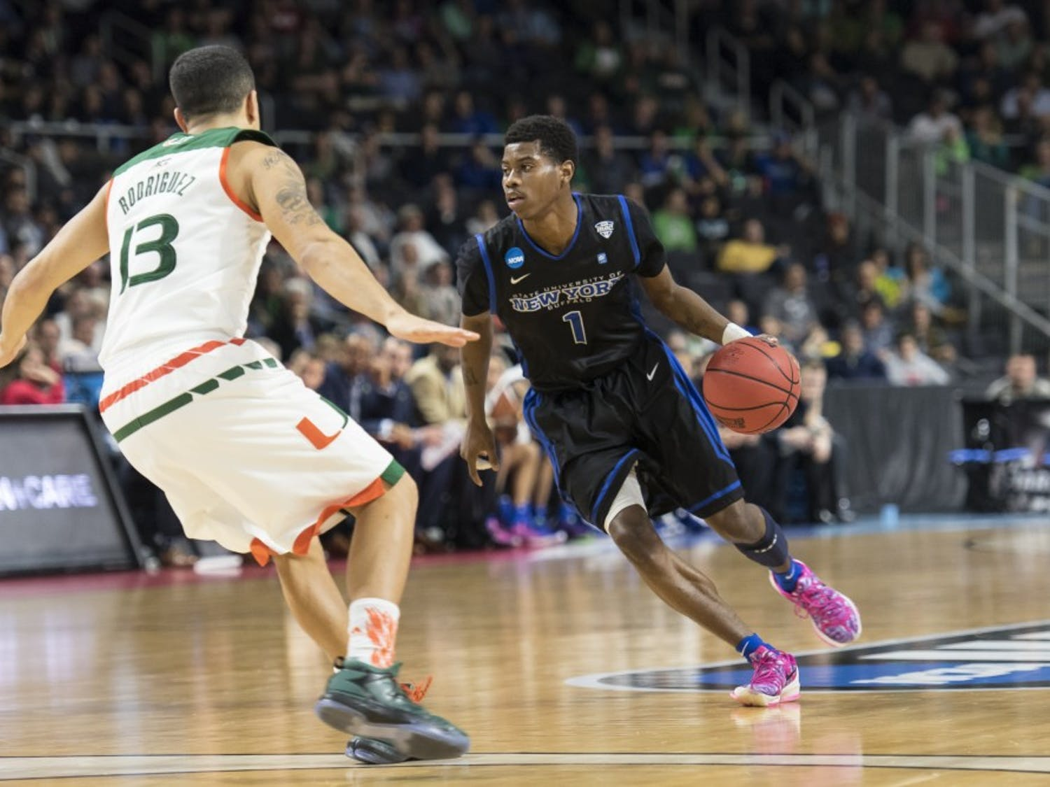 The Buffalo men's basketball team fell 79-72 to No. 3 seed Miami in the NCAA Tournament in Providence, Rhode Island Thursday night. It was Buffalo's second straight and second-everappearance at the big dance after an unexpected Mid-American Conference title run.