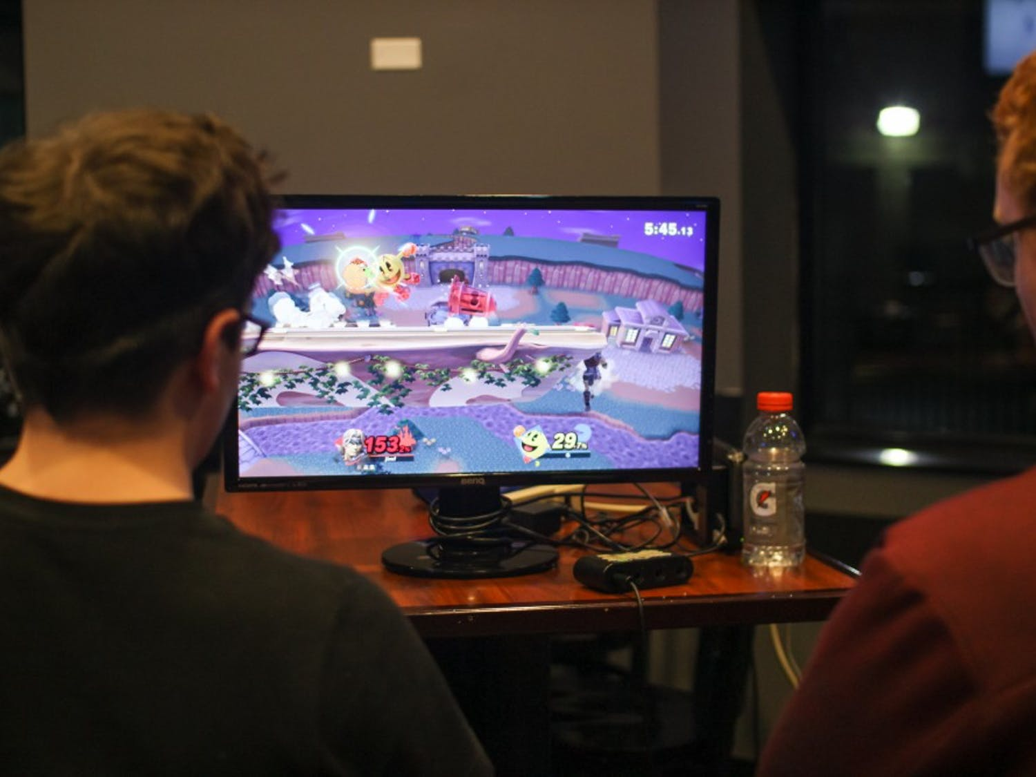Students play Super Smash Bros. UB's new esports team allows students to compete against other universities in various video games.