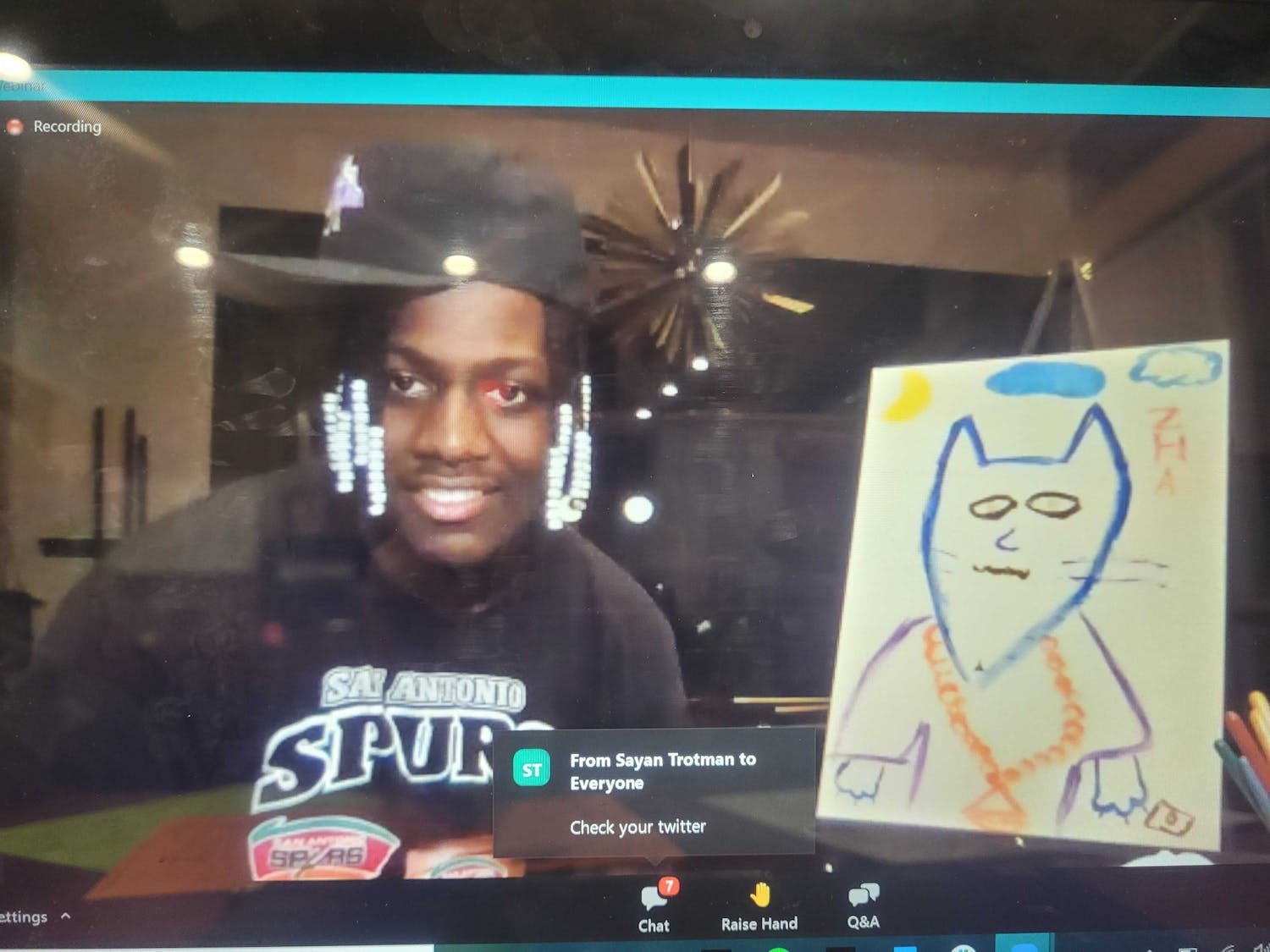 The SA's paint night featured special guest Lil Yachty, who critiqued students' art, answered questions and spurred heated debates over Zoom on Saturday.