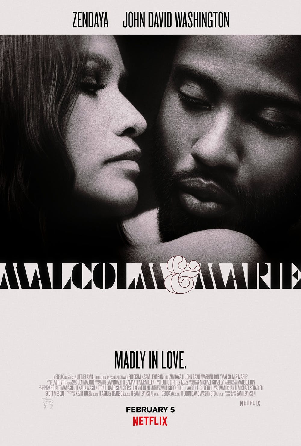 """Malcolm and Marie"" is a romantic drama focusing on the titular couple Malcolm, played by John David Washington, and Marie, played by Zendaya."