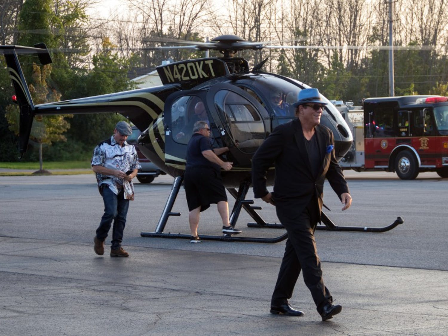 """Bond villain Robert Davi kicked off the Buffalo Niagara Film Festival with an arrival on a helicopter before screening his documentary, """"Davi's way for the crowd."""""""