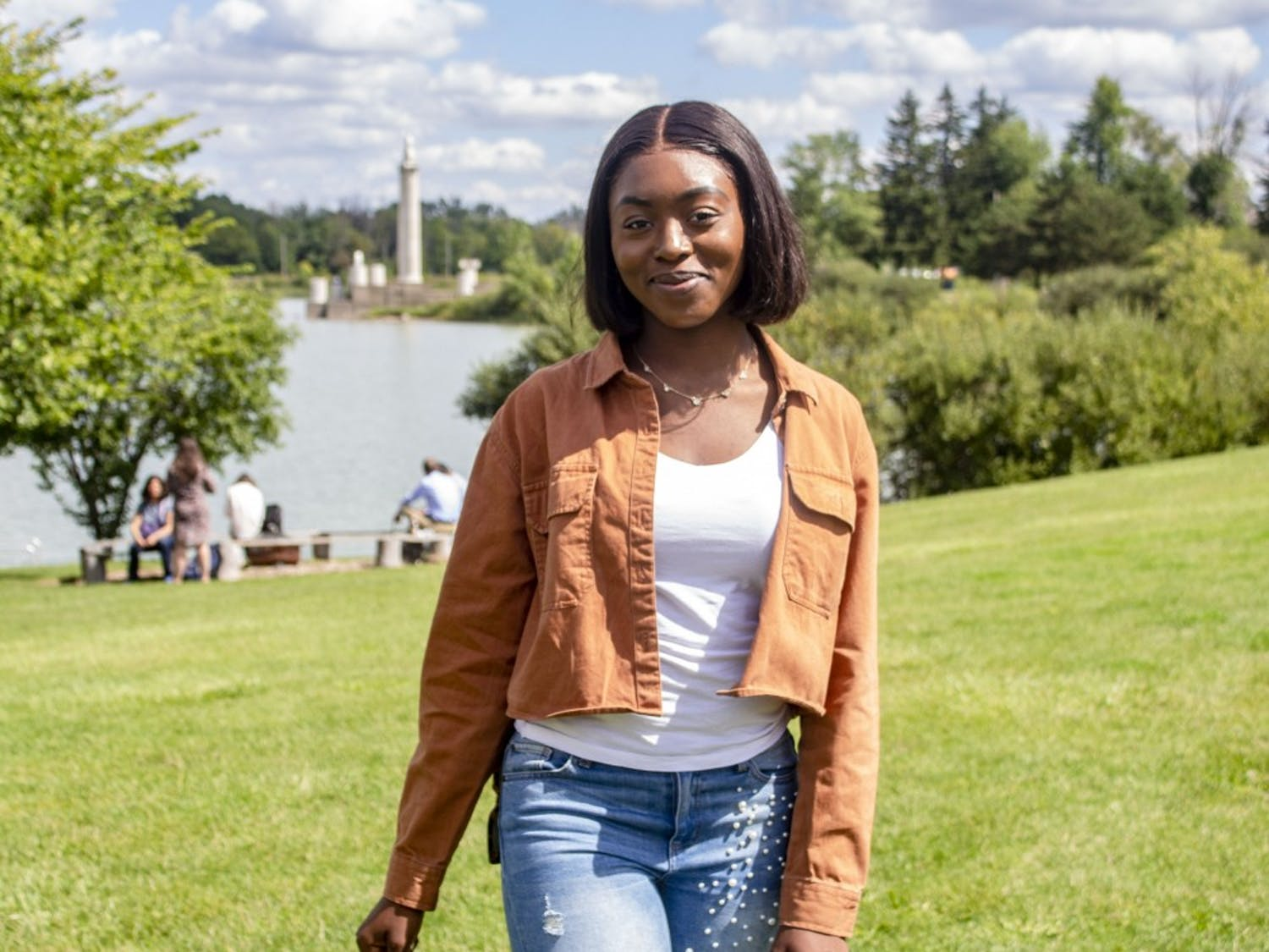 Florence Ayeni, senior health and human services major and BSU president, is a full-time entrepreneur and student leader who dedicates her time to helping others.