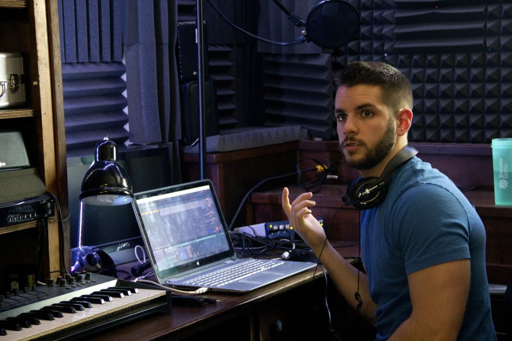 <p>When he is not studying for a chemistry exam or volunteering in Honduras, Samuel Vespone, a 2018 graduate from UB, is producing and making music in his own bedroom. His bedroom is set up like a studio, which allows him to express his creativity with the instruments he knows how to play</p>