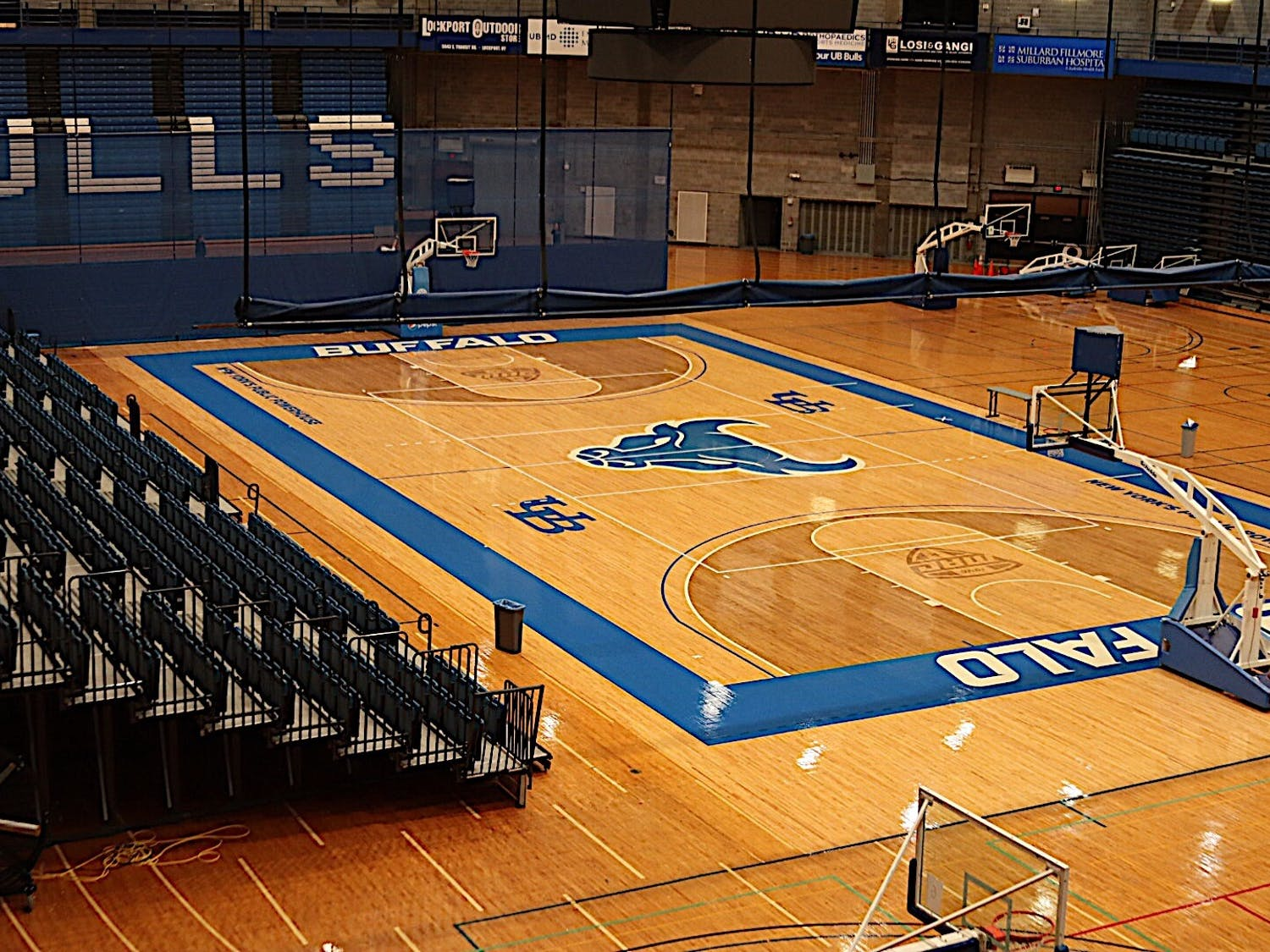 Alumni Arena home to UB men's and women's basketball teams, the women's volleyball team, and wrestling team.